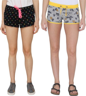 Pepperika Printed Women's Multicolor Hotpants