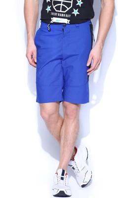 Nike Solid Men's Blue Basic Shorts