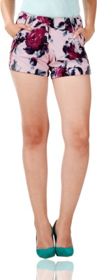 Miss Chase Printed Women's Multicolor Basic Shorts