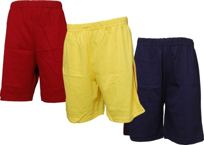Little Star Solid Boy's Multicolor Basic Shorts