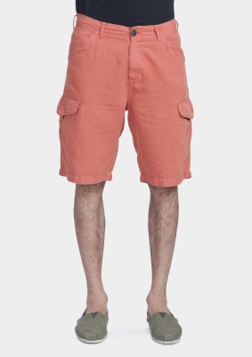 Bhane Solid Men's Pink Basic Shorts