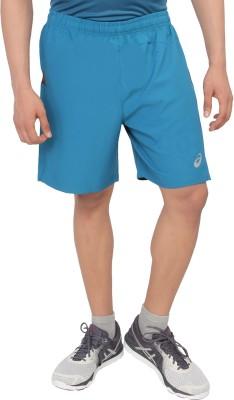 Asics Solid Men's Dark Blue Sports Shorts