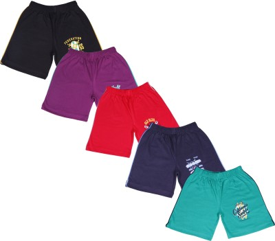 Provalley Printed Boy's Multicolor Basic Shorts