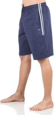 Vip Solid Men,s Blue Bermuda Shorts