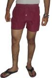 Fashionmandi Striped Men's Maroon Boxer ...