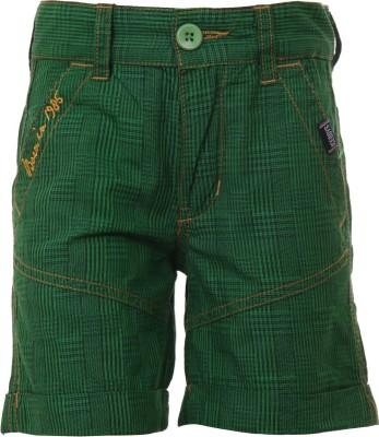 Ice Boys Printed Boy's Green Basic Shorts