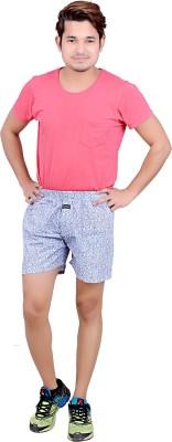 LEGMARK Printed Men's White Basic Shorts