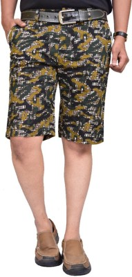 British Terminal Self Design Mens Multicolor Bermuda Shorts