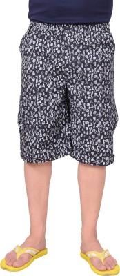 Zrestha Printed Men's Black Basic Shorts