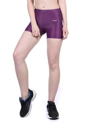 Yogue Printed Women's Purple Gym Shorts