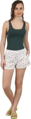 Below The Belt Printed Women's White, Yellow, Green Night Shorts