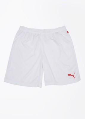 Puma Solid Women's White Sports Shorts at flipkart