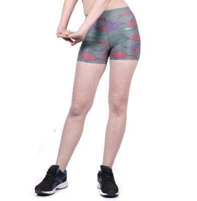 Yogue Printed Women's Multicolor Gym Shorts