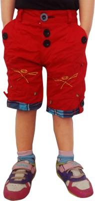 AD & AV Short For Boys(Red, 7 - 8 Years, Pack of 1)