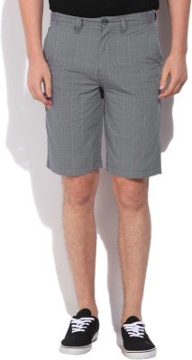 Jeanswest Australia Checkered Men's Grey Basic Shorts