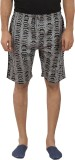 Tantra Printed Men's Grey Basic Shorts