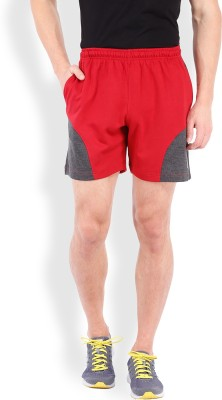 2go Solid Men's Red, Grey Sports Shorts