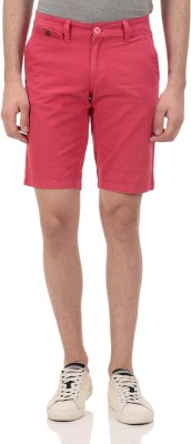 Ebry Solid Men's Red Chino Shorts