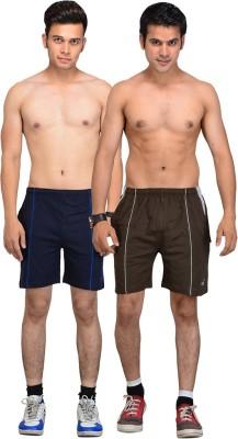 VEGO Self Design Men,s Multicolor Basic Shorts