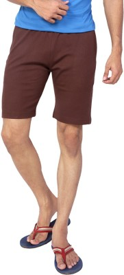 Allocate Solid Men's Brown Gym Shorts, Night Shorts, Running Shorts, Sports Shorts