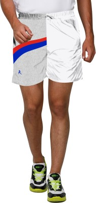 Proplay Printed Men's White Sports Shorts