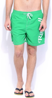 Russell Athletic Solid Men's Green Swim Shorts