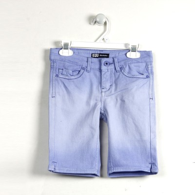 Levi's Solid Girl's Denim Light Blue Denim Shorts