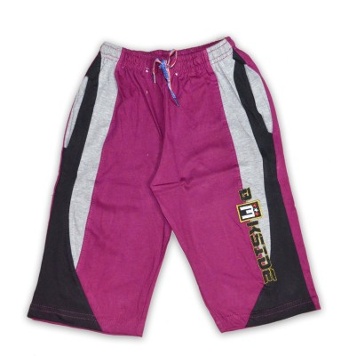 Just In Plus Solid Baby Boy's Reversible Purple Basic Shorts