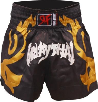 Ring Fight Self Design Men's Black Sports Shorts