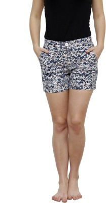 LEBE Printed Women's Multicolor Basic Shorts