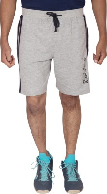 Red Line Solid Men's Grey Sports Shorts