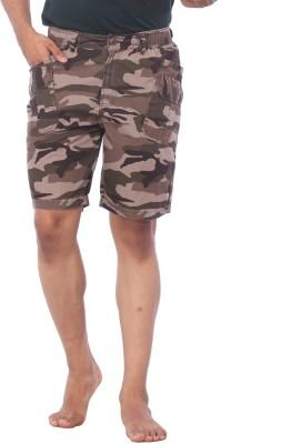 Bornfree Animal Print Men's Multicolor Bermuda Shorts