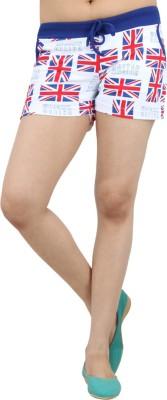 Just Play Self Design Women's Blue, White Beach Shorts