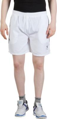 Goodluck Solid Men,s White, Black Sports Shorts