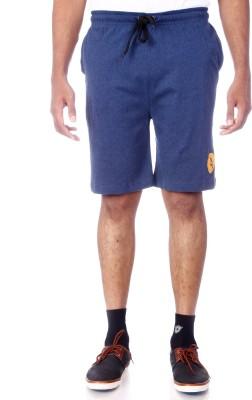 Shootr Solid Men's Blue Bermuda Shorts