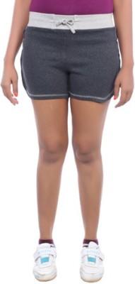 Happy Hours Solid Women's Grey Bermuda Shorts