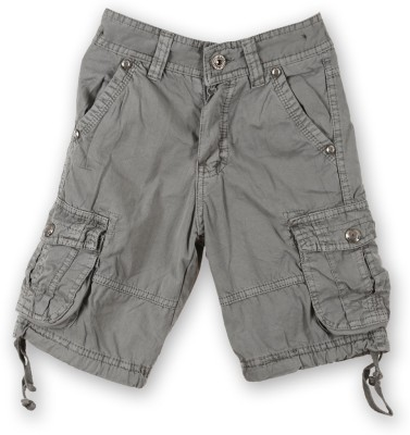 Lilliput Solid Boy's Brown Cargo Shorts