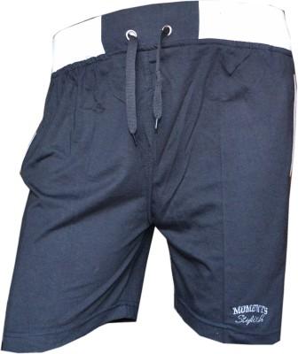Male Basics Solid Men's Grey Bermuda Shorts