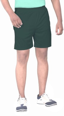 SPORTEE Solid Men,s Green Sports Shorts