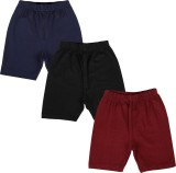 Lula Short For Girls Solid Cotton Linen ...