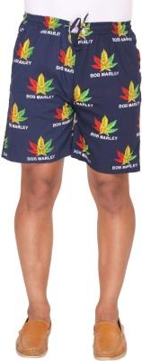 Ramarrow Printed Men's Dark Blue Bermuda Shorts