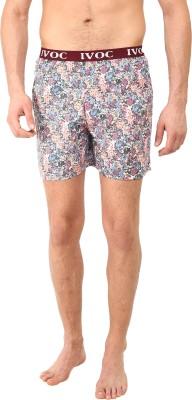 I-Voc Floral Print Men's Multicolor Boxer Shorts