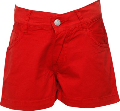 Joshua Tree Solid Girl's Red Hotpants