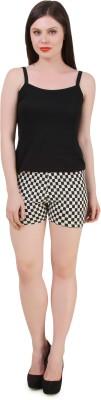 Flur Checkered Women's Black, White Hotpants