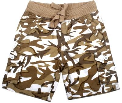 Cub Printed Boy's Brown Bermuda Shorts