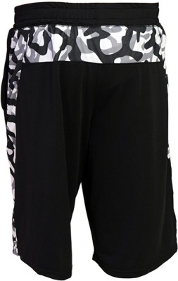 Arcley Solid, Printed Men,s Black Gym Shorts