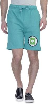 DC Comic Printed Men's Green Basic Shorts, Running Shorts