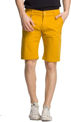 Bodymark Solid Men's Yellow Night Shorts