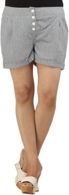Modimania Solid Women's Grey Basic Shorts