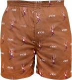 Gee & Bee Printed Men's Brown Basic Shor...